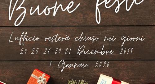 Chiusura uffici Natale 2019 - Cooperativa Sociale Delfino